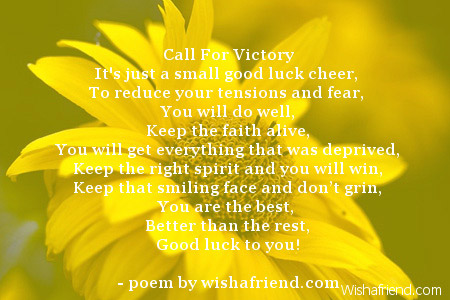 better than the rest good luck to you poem by wishafriend com