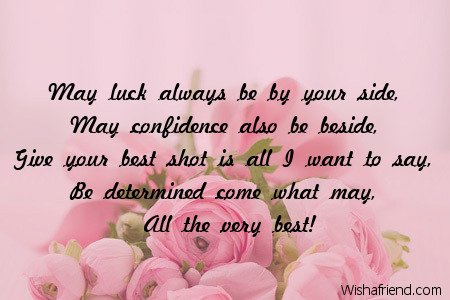 Best wishes for new assignment