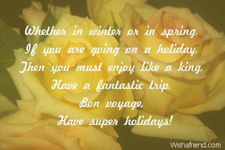 Bon voyage message to a friend