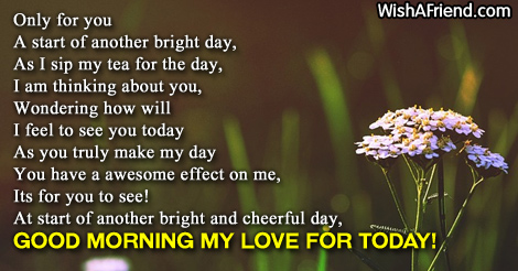 Romantic Good Morning Poems For Him