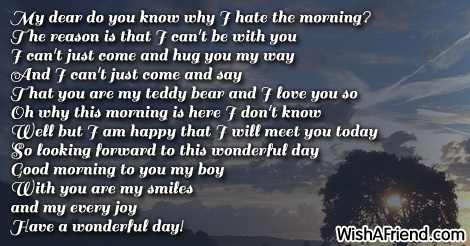 Good Morning Poem For Him Do You Know Why