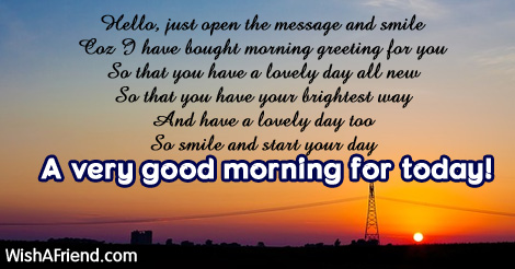 Sweet good morning message hello just open the message and 17057 sweet good morning messages m4hsunfo