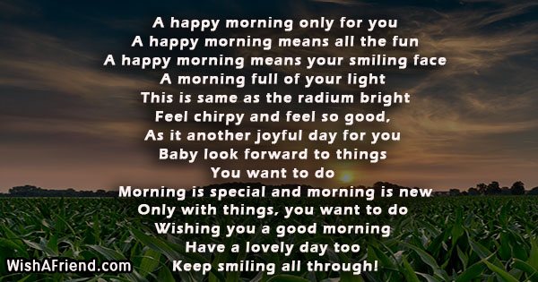 Good Morning Poem for Her, A happy morning only for you