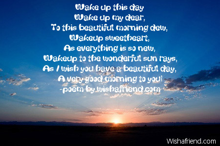 Wake up poem for girlfriend