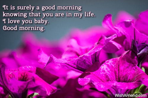 Good Morning Love Message For My Girlfriend : It is surely a good morning message for