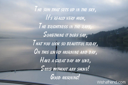 Best good morning poems for her