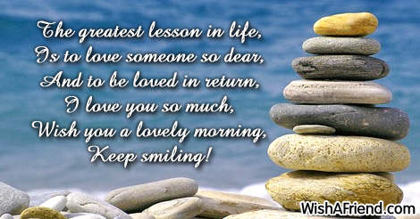 Cute good morning message the greatest lesson in life is 9180 cute good morning messages m4hsunfo
