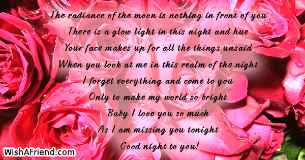 the radiance of the moon is romantic good night message