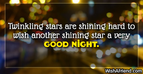 Twinkling stars are shining hard