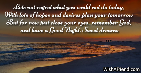 Lets not regret what you