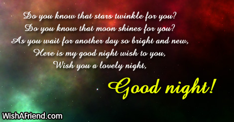 7465 Cute Good Night Messages