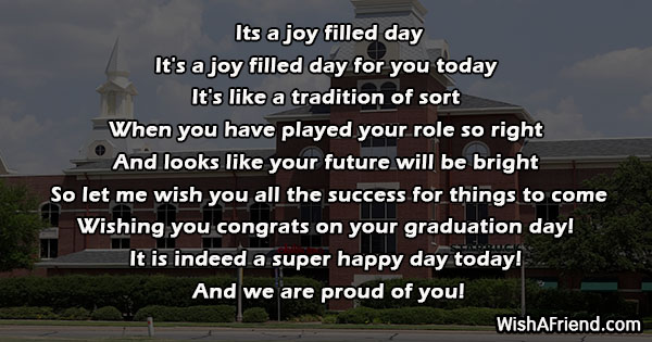 its a joy filled day   graduation poem