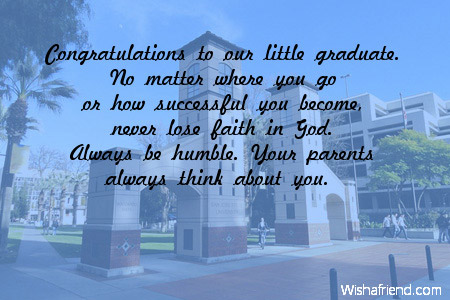 Congratulations to our little graduate no graduation message from 4536 graduation messages from parents m4hsunfo