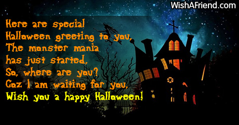 9653 Halloween Greetings