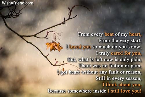sad love poems for - photo #30