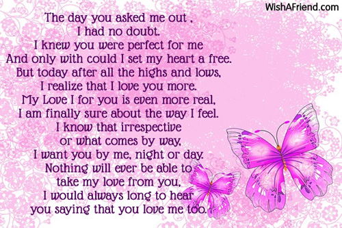 The Day You Asked Me Out, Poem For Boyfriend