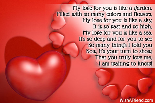 my love for you is like poem