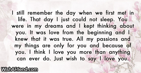 I still remember the day when Love Letters – Love Letters