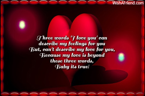 Three Words 'I Love You' Can, Romantic Message