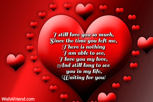 I still love you so much,, I Love You Message For Ex-Girlfriend