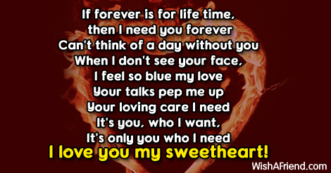 If forever is for life time,, Love Message For Girlfriend