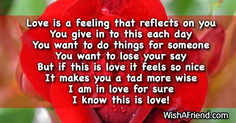 It is a true feeling , Short Love Poem