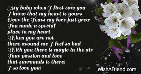 when i first saw u poem