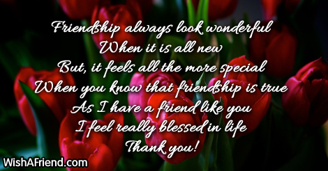 Sweet friendship message
