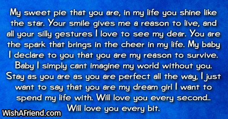 My sweet pie that you are,, Love Letters for Her