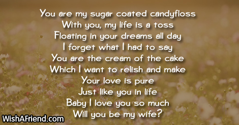 You Are My Sugar Coat Funny Love Poem