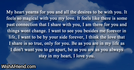 My Heart Yearns For You And Love Letters