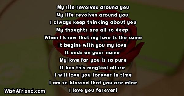 My life revolves around you , Short Love Poem
