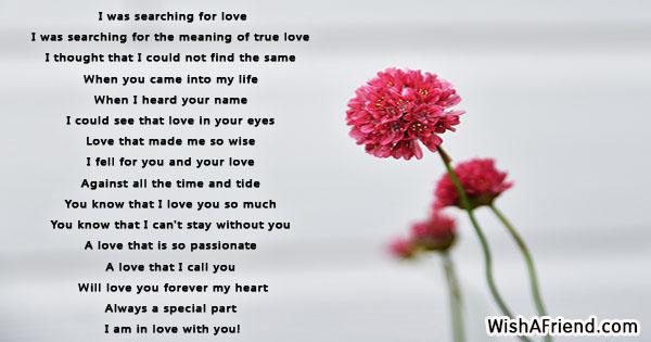 definition of true love poem