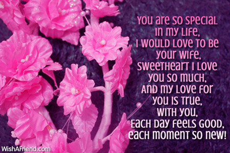You Are So Special In My Love Message For Boyfriend