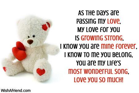 as the days are passing my love message for girlfriend