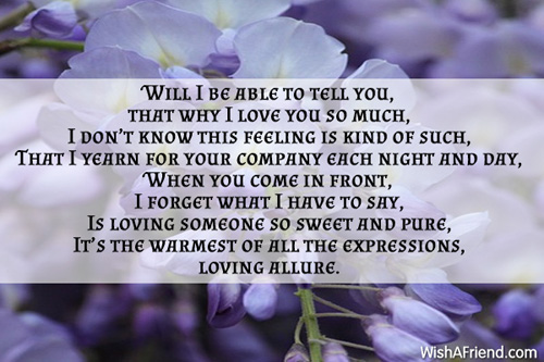 Loving You Is Sweet And Pure, Romantic Poem
