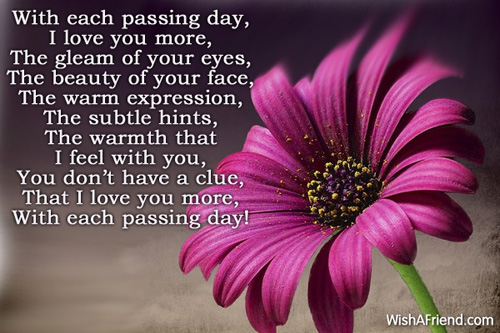 I Love You More Each Day Quotes Tumblr : love you more each day with each passing day i love you more the gleam ...