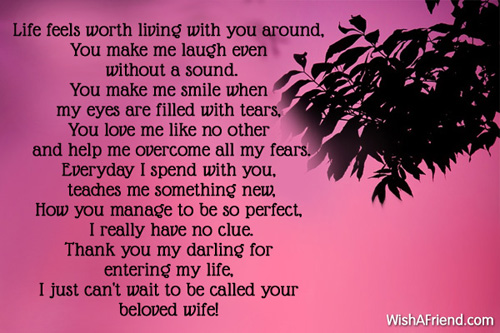 I Want To Be Your Wife, Poem For Boyfriend