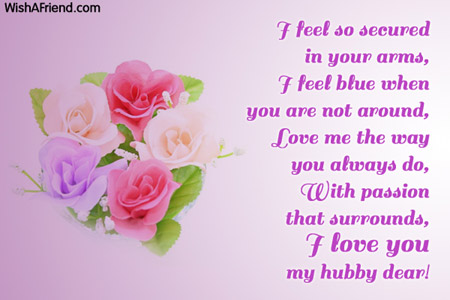 Love msg for husband in english