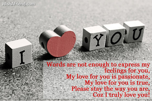 words to express how much i love you
