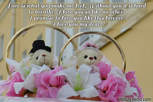love is what you make me feel