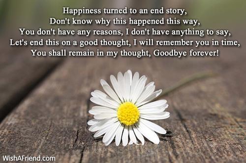 Goodbye Love Poems