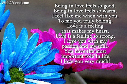 being in love i love you poem