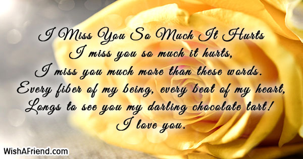 I Miss You So Much It Hurts, Missing You Poem For WifeI Love You So Much It Hurts Poem