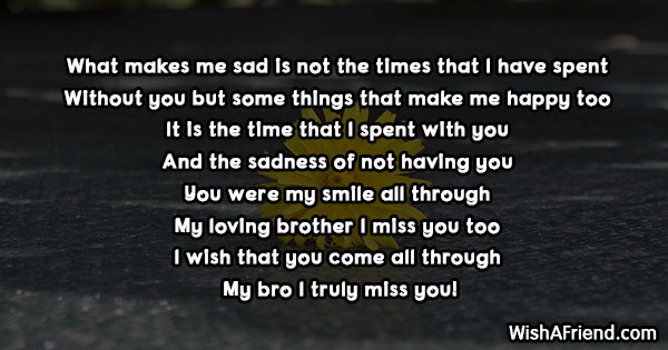 19284 missing you messages for brother