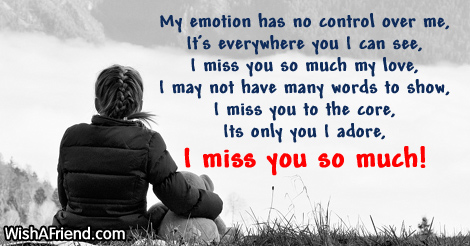 Missing you my love message