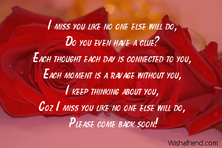 Missing You Poems - Pa...