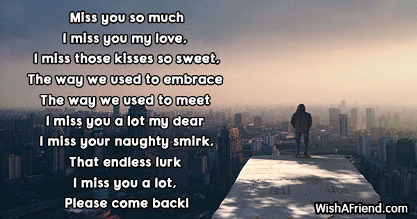 poems for the one you love and miss