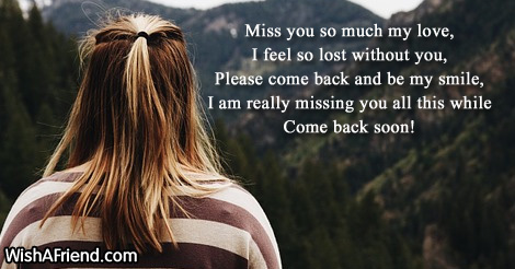 Miss you so much my love,, Missing You Message for Boyfriend