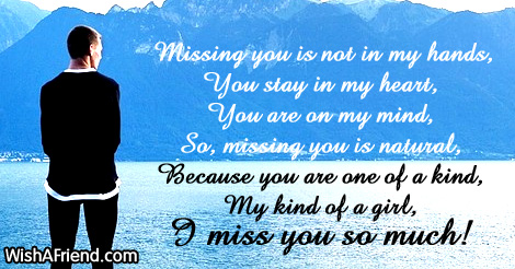 missing u text messages girlfriend